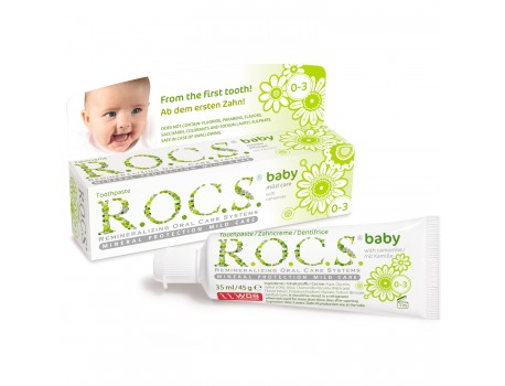 Baby toothpaste with camomile extract